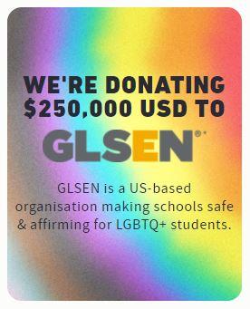 Hollister Co. don 250 000 dollars à GLSEN