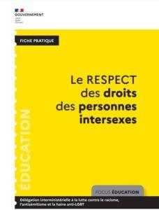 DILCRAH Fiche pratique respect droits personnes intersexes éducarion