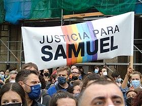 Manifestations justicia para samuel suite meurtre Samuel Luiz