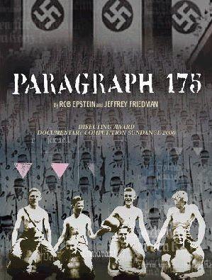 Affiche film Paragraph 175 Rob Epstein Jeffrey Friedman