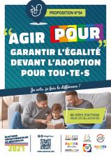Affiche Agirpour garantir égalité devant adoption pour tous toutes élections départementales régionales 2021