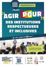 Affiche Agirpour institutions respectueuses inclusives élections départementales régionales 2021