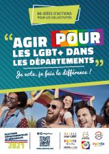 Affiche Agirpour LGBT+ dans les départements élections départementales régionales 2021
