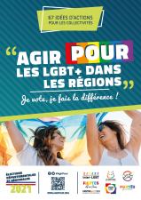 Affiche Agirpour LGBT+ dans régions élections départementales régionales 2021