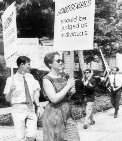 Barbara Gittings photo noir blanc activiste américaine lesbienne