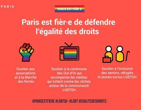 Campagne ville Paris Paris est fièr-e défendre égalité des droits inclusion personnes LGBTQI+