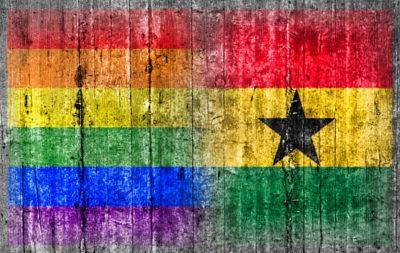 Drapeau arc-en-ciel LGBT drapeau Ghana peints palissade bois