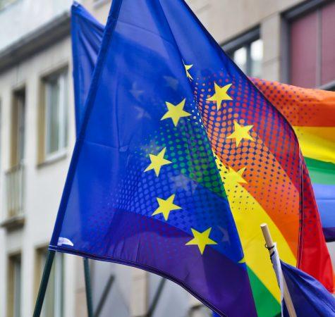 Drapeau Européen LGBT arc-en-ciel
