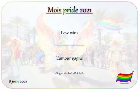 Drapeau-lgbt.fr Mois Pride 2021 Campagne slogans 8 juin love wins