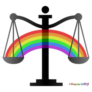 Drapeau-LGBT.fr - Balance justice arc-en-ciel