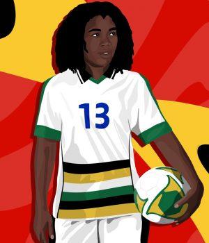 Eudy Simelane footballeuse pro sud-africaine dessin BBC Sport
