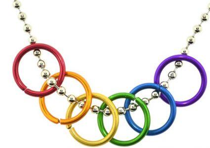 Freedom rings collier anneaux liberté design David Spada