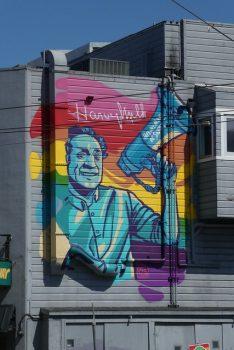 Harvey Milk streetart arc-en-ciel San Francisco