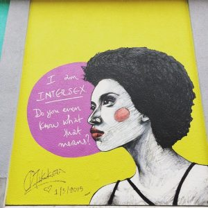I am intersex Do you even know what that means ? peinture murale