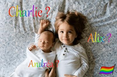 Nouveau-né et sa soeur - Prénom Charlie, Alix et Andréa