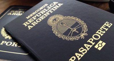 Photo nouveau passeport argentin