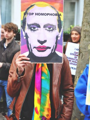 Portrait Vladimir Poutine LGBT Queer - Stop Homophobia