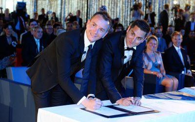 Photo premier mariage homosexuel France Vincent Autin Bruno Boileau