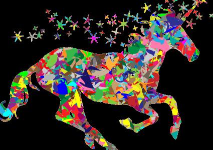 Unicorn licorne couleurs arc-en-ciel symbole personnes LGBTQI+