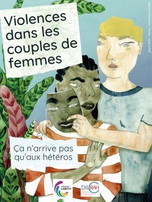 Violences couples femmes affiche campagne Fédération LGBTI DILCRAH